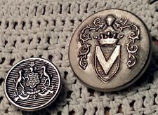 10 pc Misc Military Uniform Buttons Shields Crests Leftover Lot GREAT DEAL
