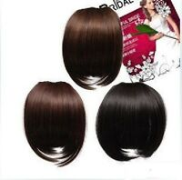 Black Dark Brown Clip In On Bang Fringe Hair Extension