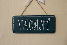 Decorative Hand-crafted Plaque ENGAGED/VACANT Door/Room Sign (Jaded Teal)