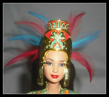 CROWN MATTEL BARBIE DOLL DOTW HEADDRESS WITH FEATHERS FAUX GOLD HEAD PIECE