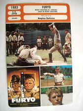FICHE CINEMA DAVID BOWIE FURYO NAGISA OSHIMA 1983