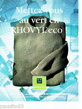 PUBLICITE ADVERTISING 096  1994  Rhovyl  fibre  Eco  pull homme