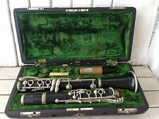 Old Vintage Pierre Revan Superieure Wooden Clarinet Original Case Parts Repair