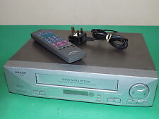 SHARP VC-M304 Video Cassette Recorder VHS LONG PLAY VCR FULLY Tested