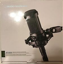 Audio-Technica AT2035 Condenser Cable Professional Microphone Bundle