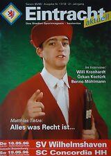 Programm 1995/96 Eintracht Braunschweig - Wilhelmshaven / Concordia HH