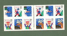 {BJ STAMPS} 2799- 2802 Christmas Greetings toys 29c  booklet pane of 12. 1993.