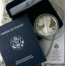 2004 AMERICAN SILVER EAGLE PROOF DOLLAR US Mint ASE Coin with Box & COA