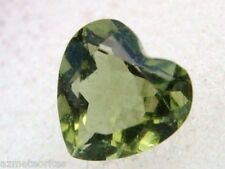 .350 carats HEART MOLDAVITE checker cut GEM 5x5x3mm -from Meteorite Impact