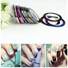 Hot Mixed Colors Rolls Striping Tape Line DIY Nail Art Tips Decoration Sticker