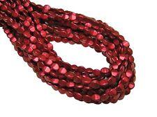 5x3mm Matte Metallic Lava Red Czech Glass Pinch Beads (50) #2851