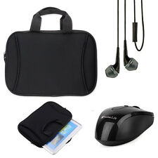 For Lenovo Flex 3 / Flex 3 11'' Black Carrying Case Sleeve Bag + Earphone +Mouse