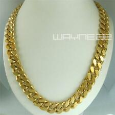 18k gold Filled  mens solid Heavy chain long Necklace curb ring link jewell N224
