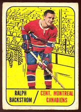 1967-68 TOPPS HOCKEY #67 RALPH BACKSTROM VG MONTREAL CANADIENS CARD