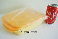 Neu Tupperware Mikrowelle Lunch box geteilt Aufwärm (1) 1.0L orange