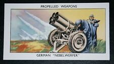 German Army NEBELWERFER   World War 2   Illustrated Card