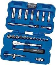 "Draper Expert 25 Piece 1/4"" Metric Mechanics Socket Set 02348 Hi Torq 4 - 13mm"