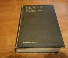 Ballentine's Law Dictionary with Pronunciations (1969, Hardcover)
