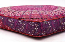 Mandala Floor Pillow Indian Square Cushion Cover Ottoman Oversized Daybed Sofa