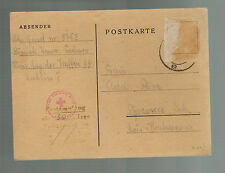 1944 Lublin Concentration Camp KZ Germany Poland Postcard Cover Johan Geisel