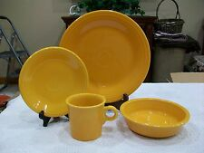 Fiesta discontinued Marigold  4 Piece Place Setting . New. Factory Second.