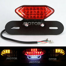 Motorcycle LED Plate Holder Tail Light Brake Custom License relocator dual sport