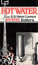 Hy-Test Hot Water Supply Boilers 1937 Catalog H.B. Smith Co. Westfield MA