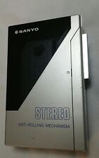 Sanyo Sportster Stereo Cassette Player M-G12 Vtg Walkman Era Rare Tested