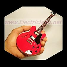 Mini Guitar CHUCK BERRY Gibson 335 RED chitarra miniature collectible guitarra