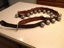 """Vintage HIgh Quality Sleigh Bells on Harness/ Strap W/Buckle Intact 30 5"""" Bells!"""