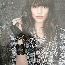 RARE Freja Beha Erichs NWT CHANEL Leather Silver CC Fingerless Gloves SZ 7.5 Box