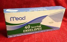 Mead Security Envelope 4 1/8 x 9 1/2 ,20 lb, White, 40 Count MAIL,MAILING,POST