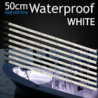 8 X Waterproof 50CM Boat White Flexible LED Strip Lights Fishing Deck Decor DIY