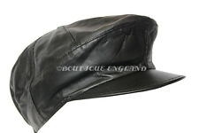 New Design Men Ivy Captain Cap Black Real Leather Gatsby Golf Driving Beret Hat