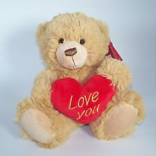 Valentine's day gift - 25cm Sandy Brown Bear Soft Toy with Heart – SV4991