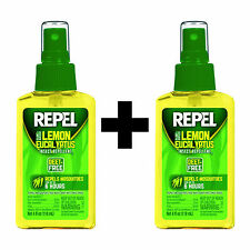 Repel Lemon Eucalyptus 4oz Natural Insect Repellent Pump Spray DEET-Free 2-Pack