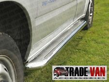 FORD Transit Van CHROME SIDE BAR passi C2 IN ACCIAIO INOX periodo 2000-2013 MK6 MK7