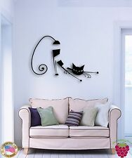 Wall Sticker Cat Kitty Pets Abstract Animal The Best Decor For Living Room z1516