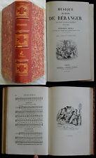 W/ MUSIQUE DES CHANSONS DE BERANGER Perrotin 1861 (gravures) GRANVILLE