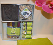 Ayurvedic herbal incense essential oils and stones box set Handmade in Bali