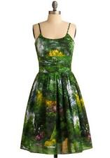 Graceful Greenery Dress Bernie Dexter Pinup mODCLOTH trees landscape M NEW