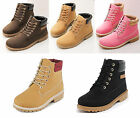 LADIES WOMENS ANKLE BOOTS LACE UP CASUAL COMBAT DESERT GIRLS FASHION SHOES SIZE