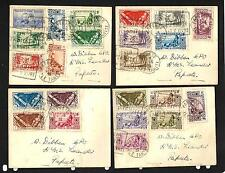 FRENCH OCEANIC SETTLEMENTS 1939 4x COVERS POSTED TO HMS LEANDER