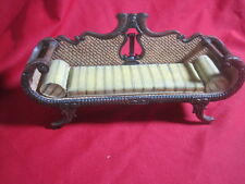 1:6 Victorian Fainting Couch Miniature for Dollhouse - Resin/Wood EXCELLENT
