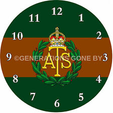 AUXILIARY TERRITORAL SERVICE (ATS) GLASS WALL CLOCK