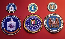 "U.S. SECURITY AGENCY PATCHES: 85mm  /3.25""  NSA, FBI & CIA SET + STICKERS"