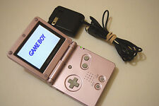 Nintendo Gameboy Advance SP System AGS-101 PEARL PINK Brighter Screen Tested