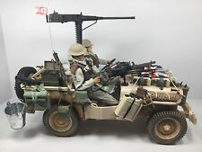 1/6 BRITISH SAS DESERT JEEP .50 Cal & .303 VICKERS GUNS+2 FIGURES WW2 DRAGON BBI