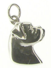 Sterling Silver 925 Boxer Dog Charms Pendants Animals & Insects j-4-jewellery