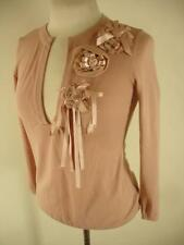womens S M 8 moschino cheap and chic pink wool peplum sweater pullover flowers